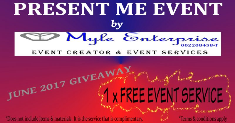 Reminder : Present Me Event – June 2017 Giveaway