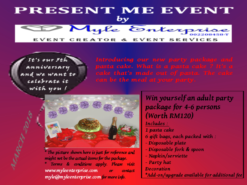 Present Me Event March 2018 : Myle Enterprise's 5th Anniversary