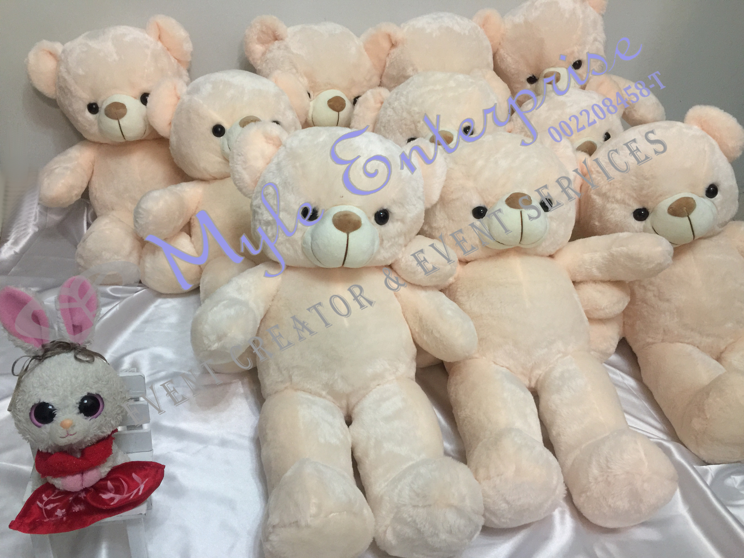 Customed event items, this one are bears for events by Myle Enterprise