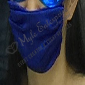 Blue Cloth Face Mask